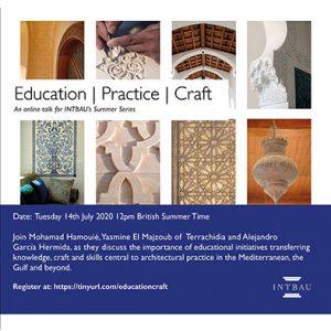 Charla: Education | Practice | Craft