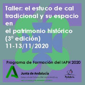 Taller: el estuco de cal tradicional y su espacio en el patrimonio histórico